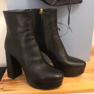 BRAND NEW 2019 Black Prada Platform Booties